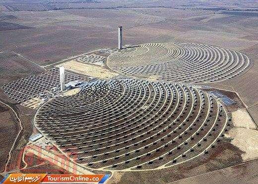 نیروگاه خورشیدی خیره کننده در اسپانیا